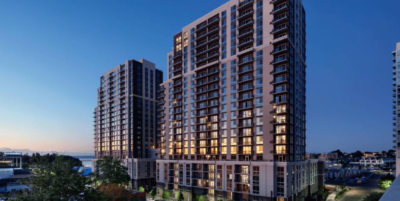 allure luxury apartment building in stamford ct on waterfront