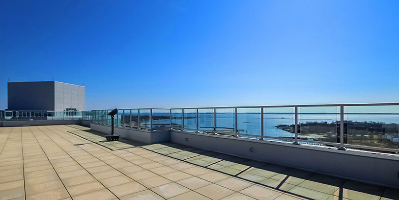 beacon harbor point apartment rooftop observatory deck stamford blt