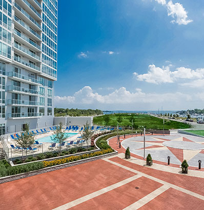 beacon harbor point luxury apartment high rise on stamford waterfront blt