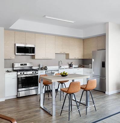 blt live work play modern apartment kitchens in stamford norwalk