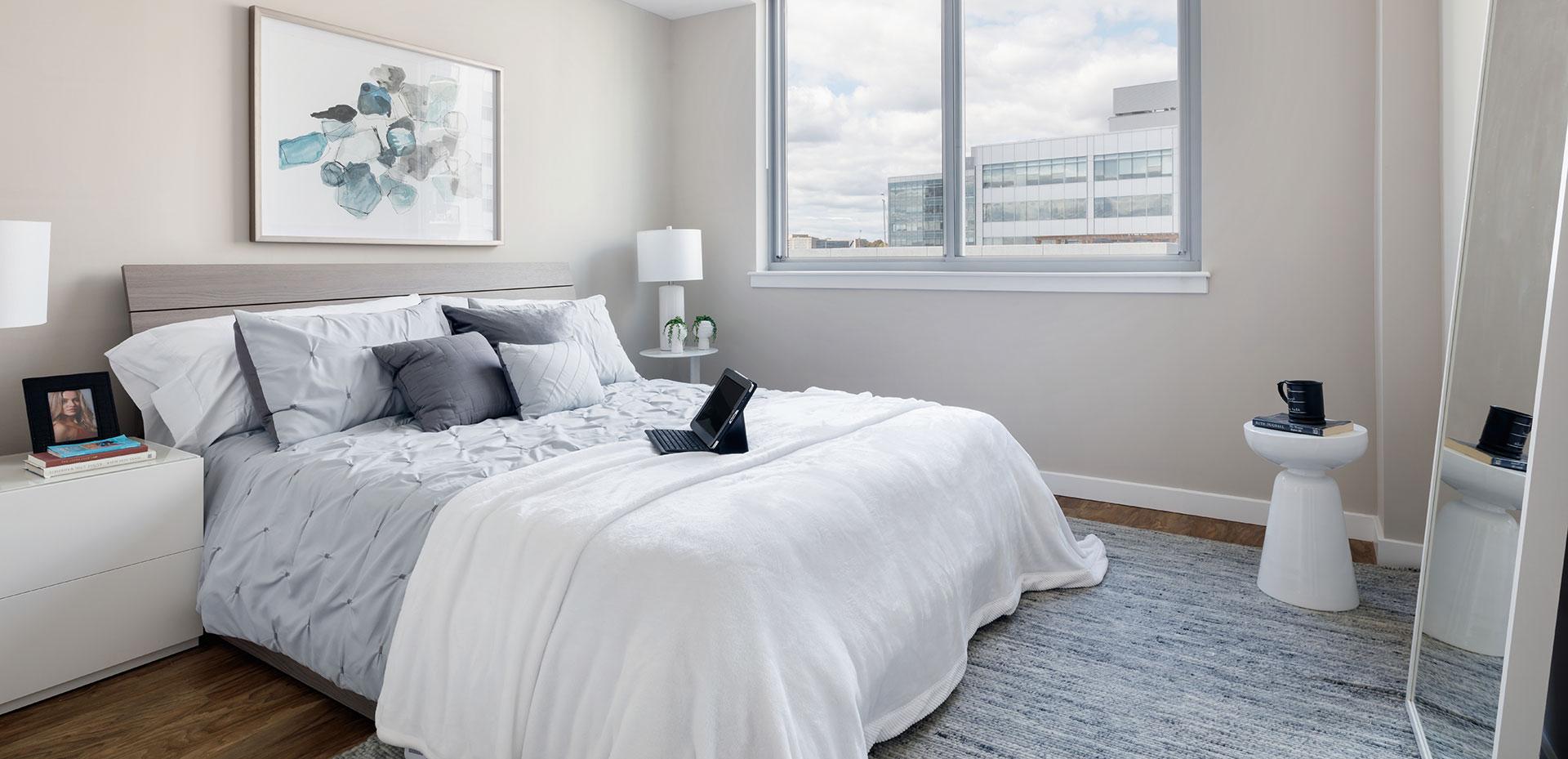 modern luxury apartment stamford bedroom with hardwood nv harbor point blt