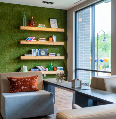 the curb building amenities indoor lounge apartments in norwalk
